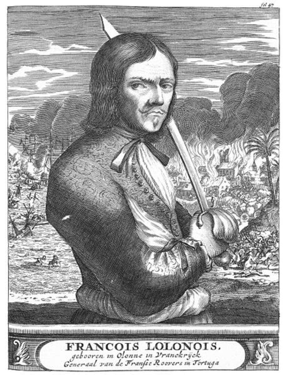 Francois L'Olonnais, buccaneer and pirate.