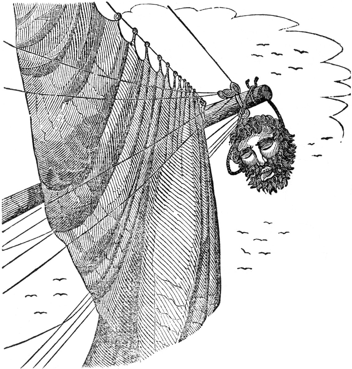 After Blackbeard's head was cut off, they hung his head on the bowsprit, so they would be able to prove they had killed him.