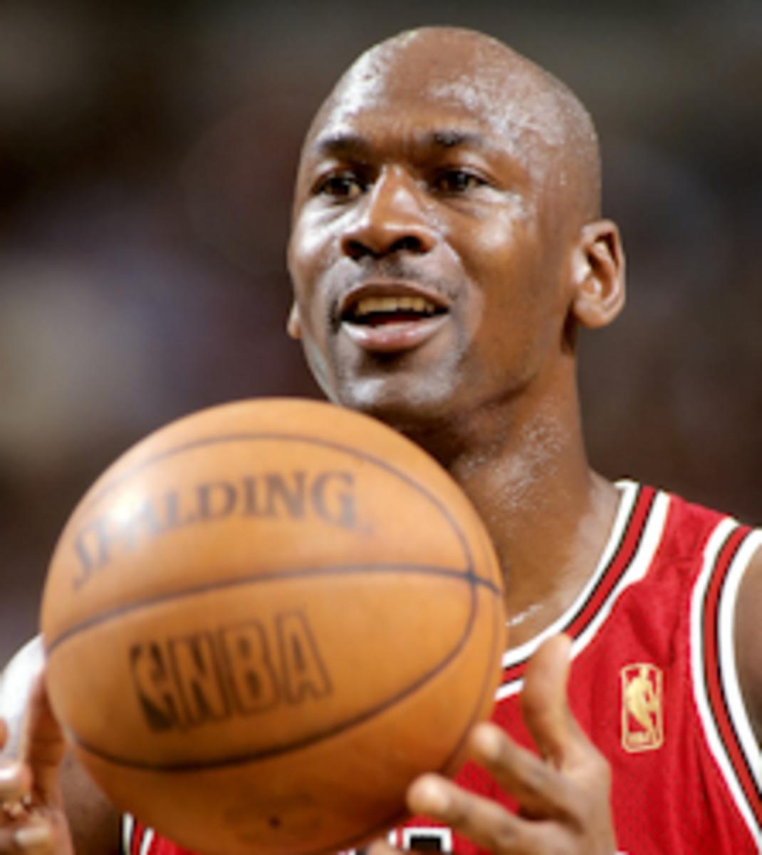 Michael Jordan playing for the Chicago Bulls