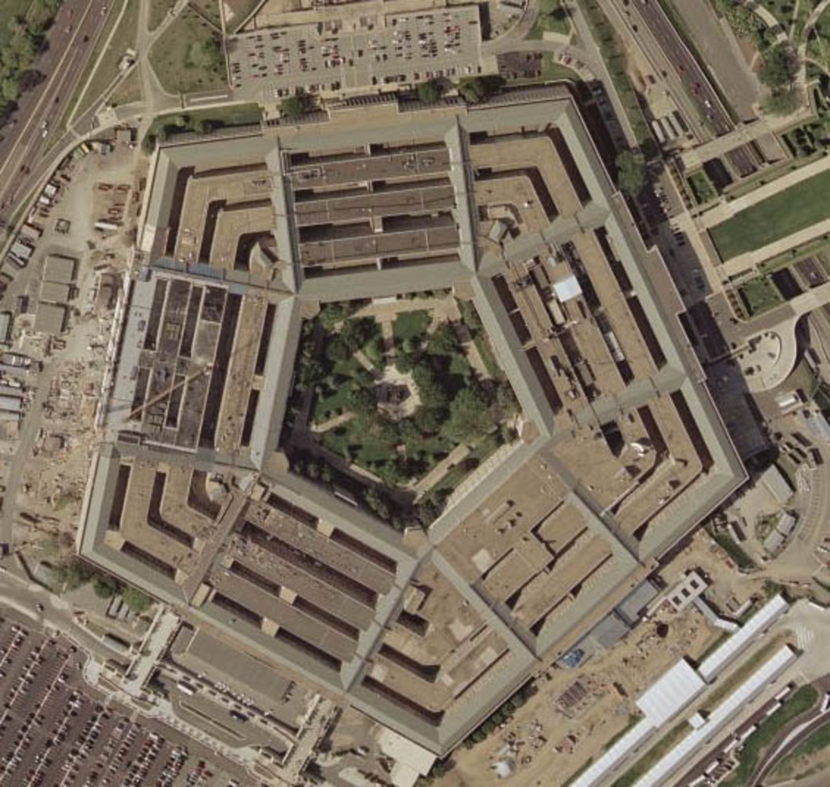 Satellite image of the Pentagon.