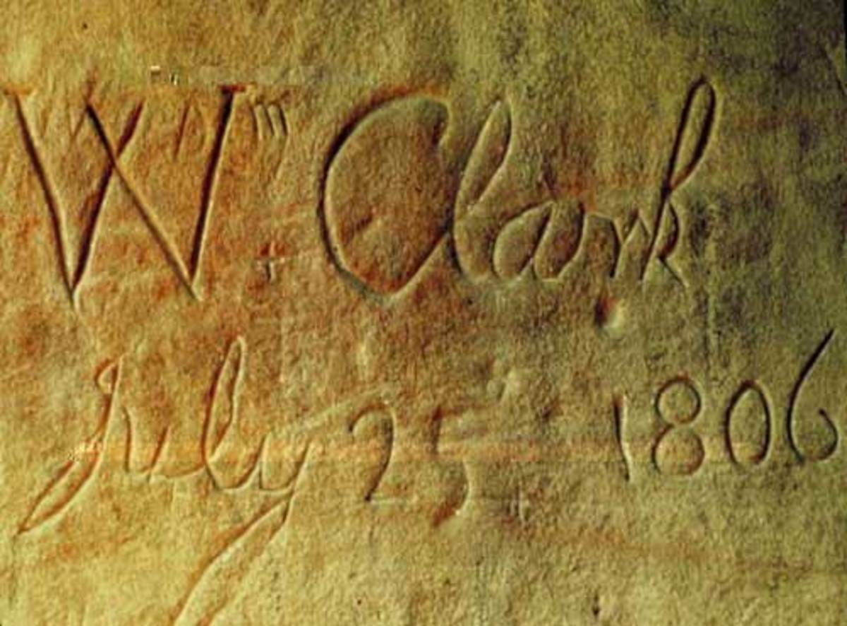 William Clark signed his name at Pompey Pillar which remains to be the only physical evidence of the William and Clark expedition.
