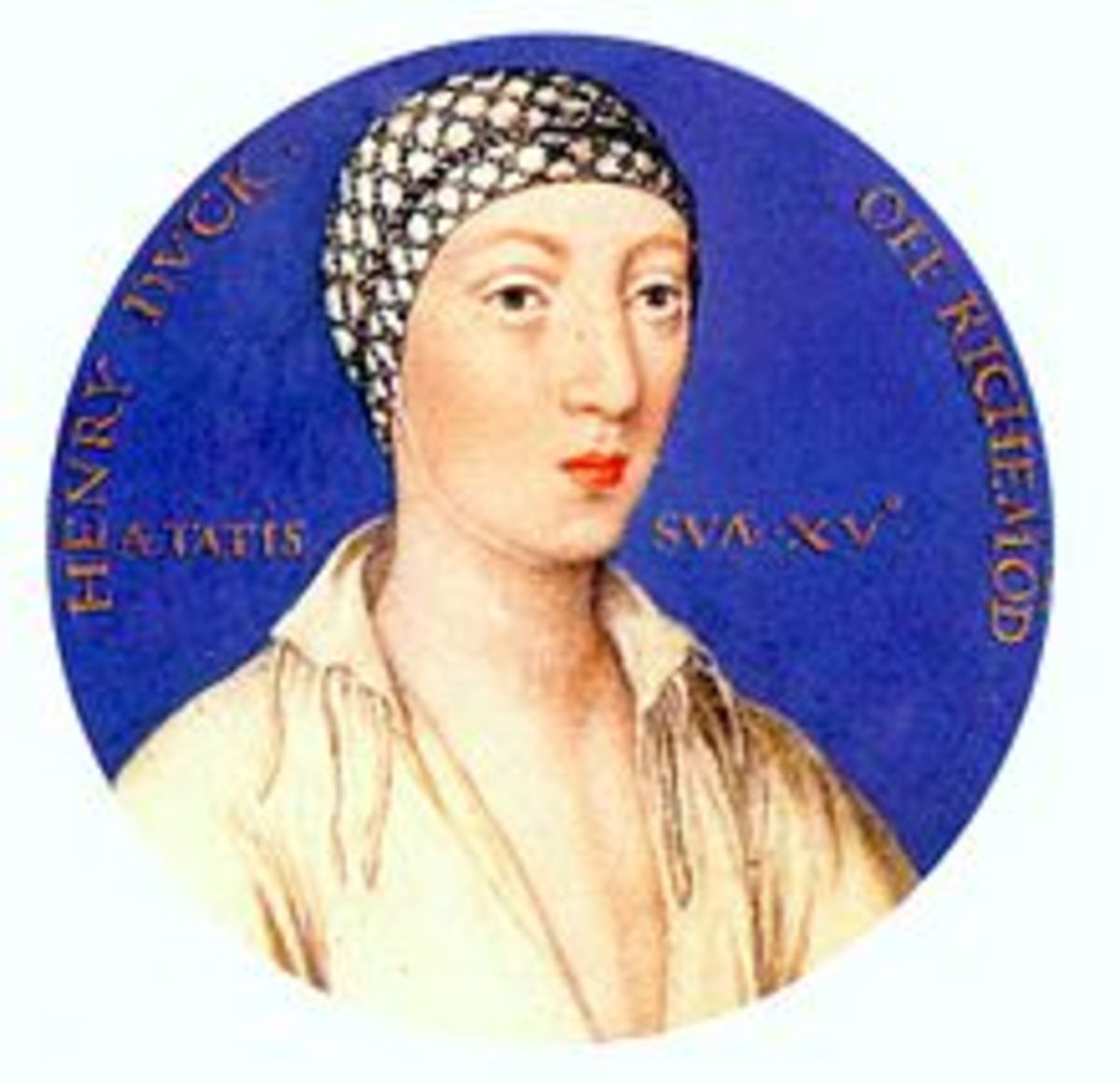 Henry VIII's natural son, Henry FitzRoy.