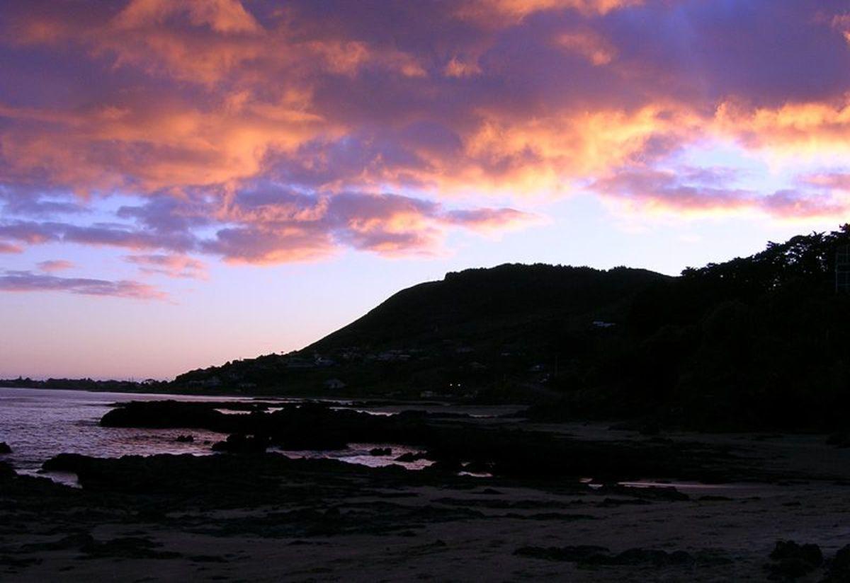 Sunrise at Shipwreck Cove, NZ
