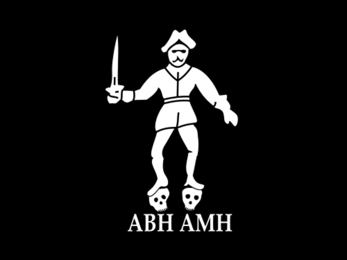 """Bartholomew """"Black Bart"""" Roberts' Flag"""
