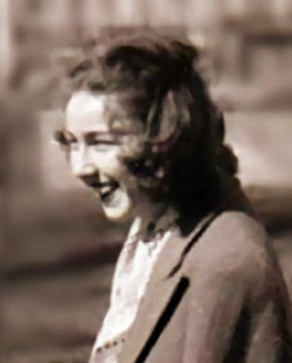 Portrait of American writer Flannery O'Connor from 1947.