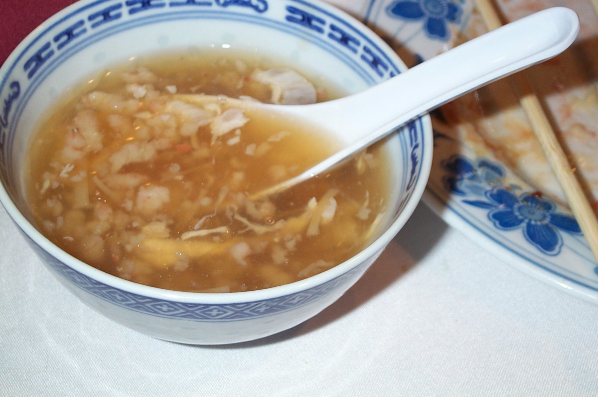 Bird's nest soup is made from dried bird saliva.