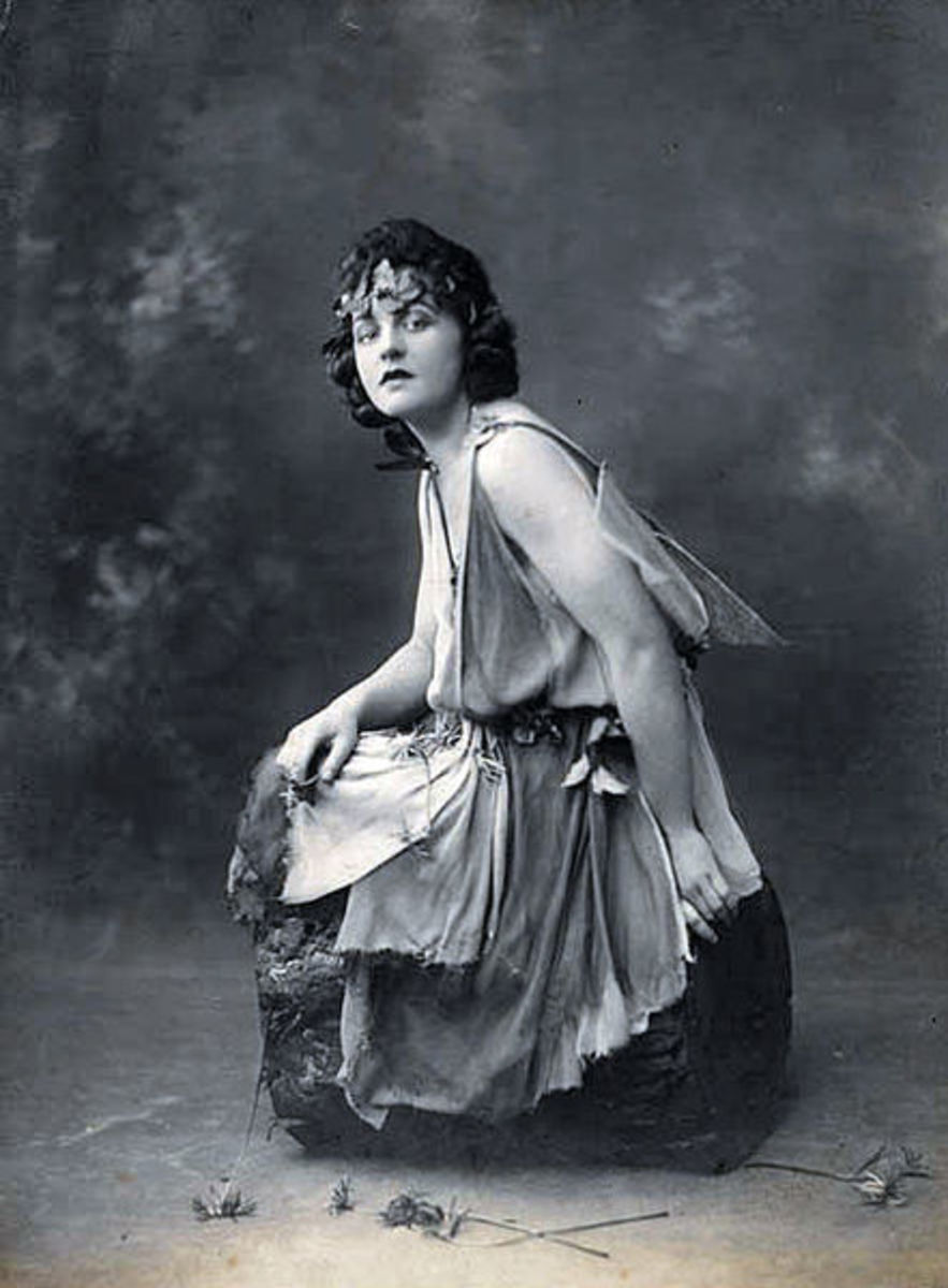 P. L. Travers as Titania in A Midsummer's Night Dream; photo taken around 1924