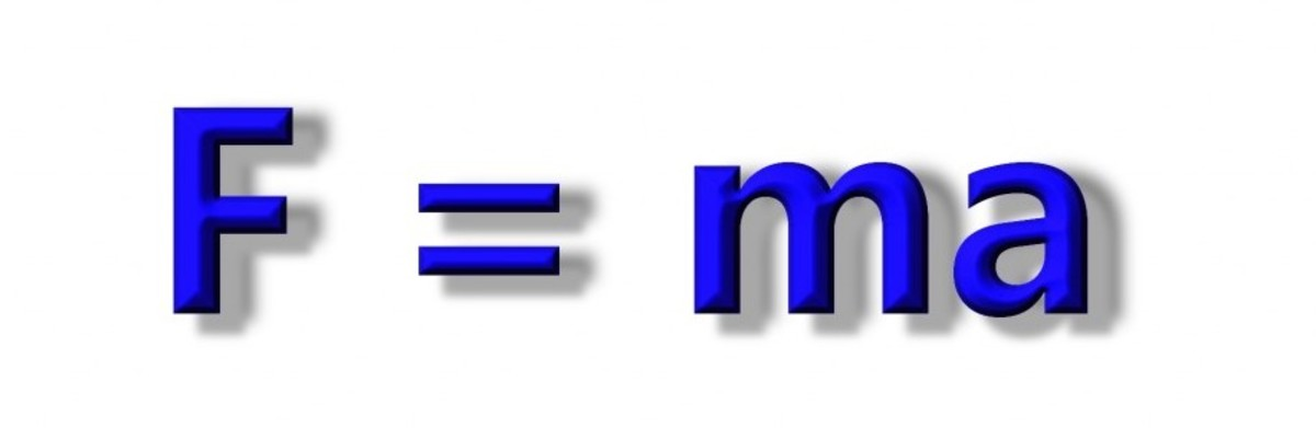 Force = mass multiplied by acceleration. F = ma