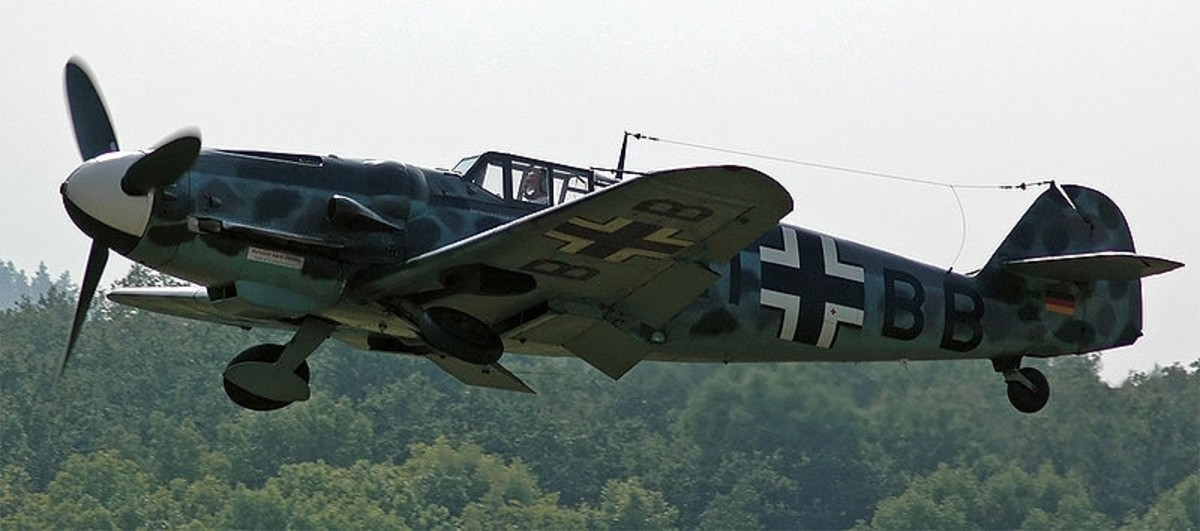 WWII: ME 109 (AKA the BF 109). German Fighter similar to Stigler's plane.