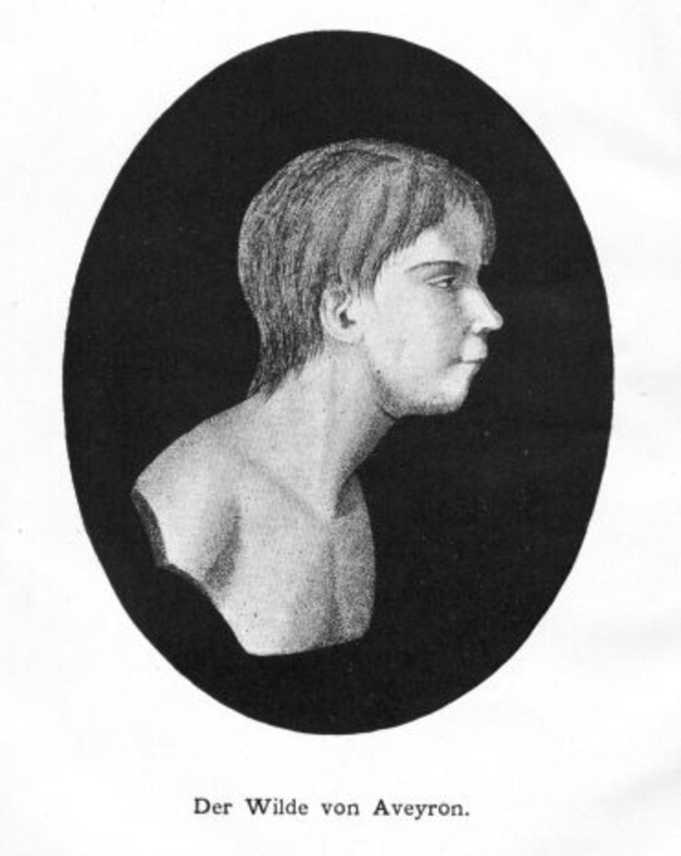 This is Victor, as depicted on the front cover of a French book written in 1801.