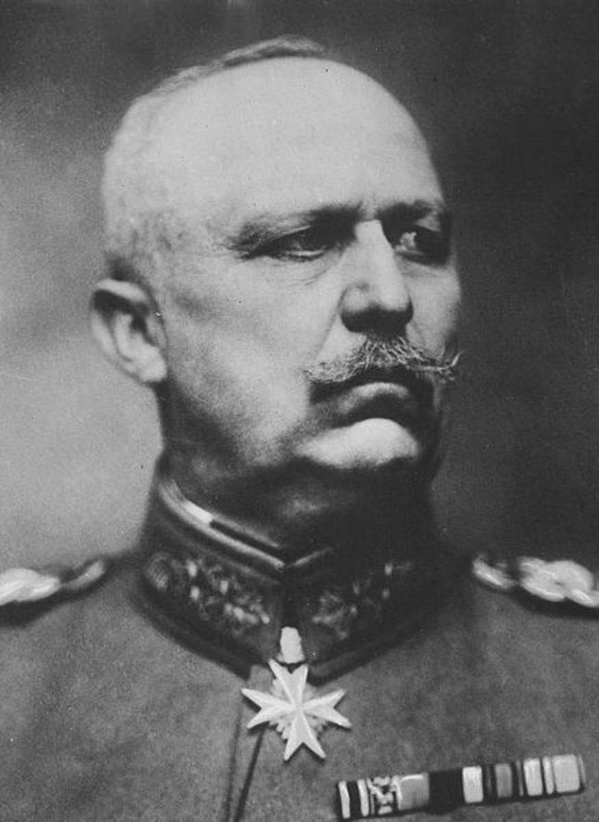 WW1: German General Erich Ludendorff.