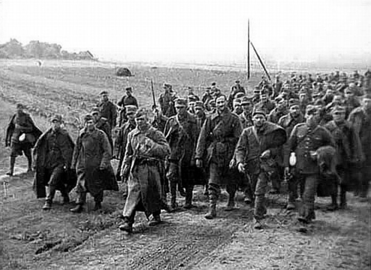 WWII: Polish prisoners of war captured by the Red Army after the Soviet invasion of Poland. September 1939