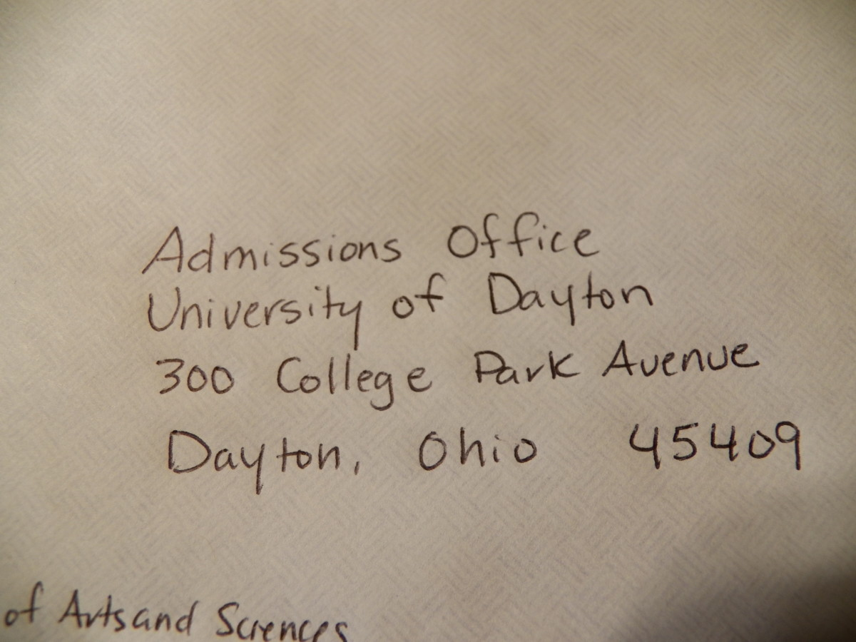 How to address envelopes for college recommendation letters owlcation admissions office spiritdancerdesigns Images