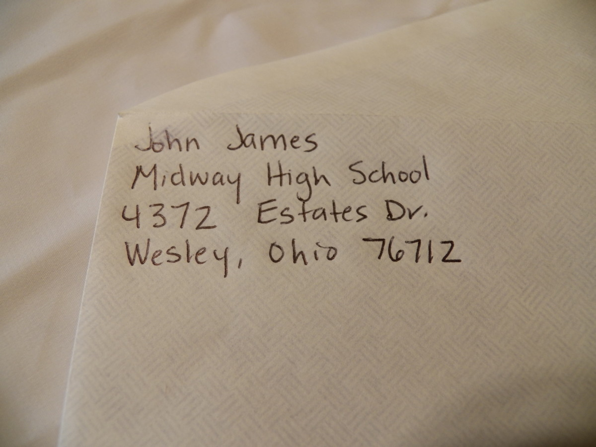 Return Address of College Recommendation Envelope is the business address of the person doing the recommendation