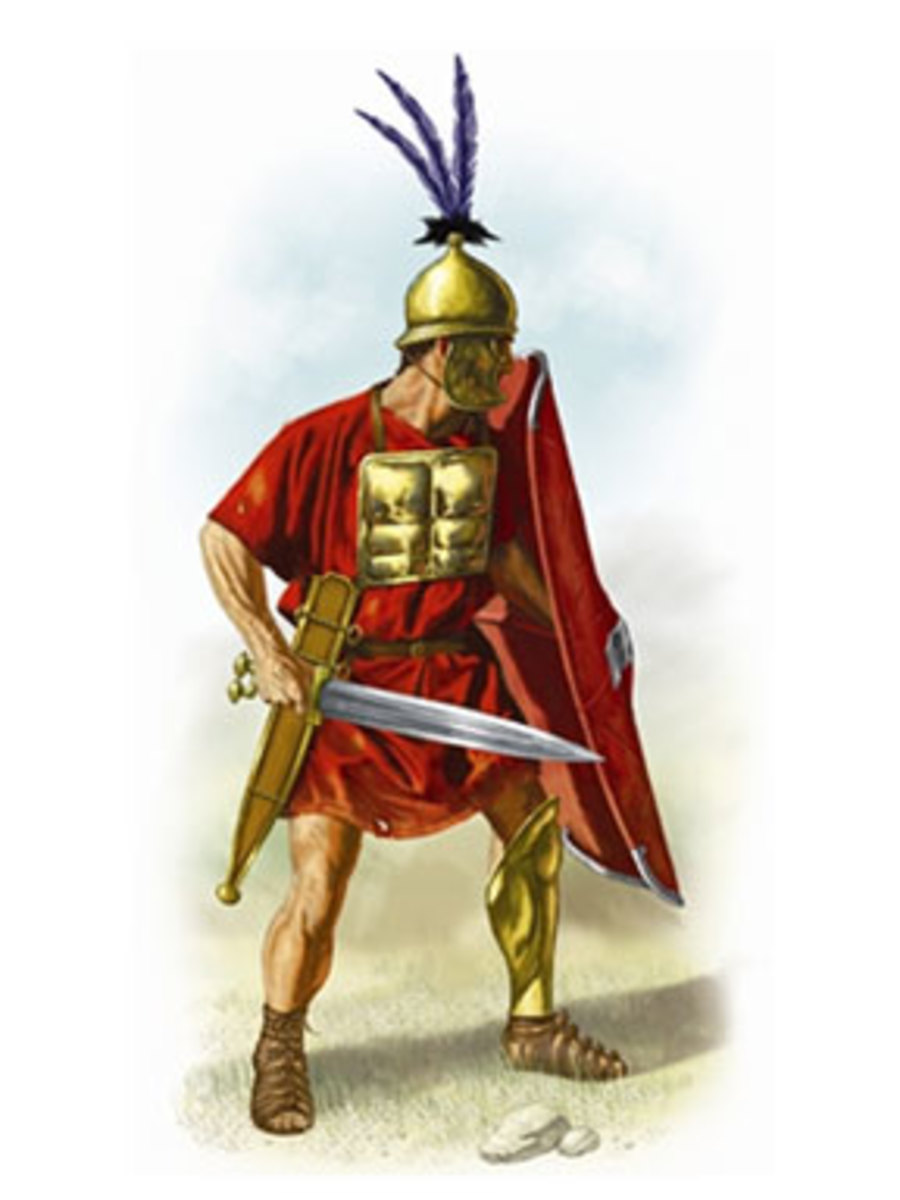 Hastati, the first ranks of the Roman armies,