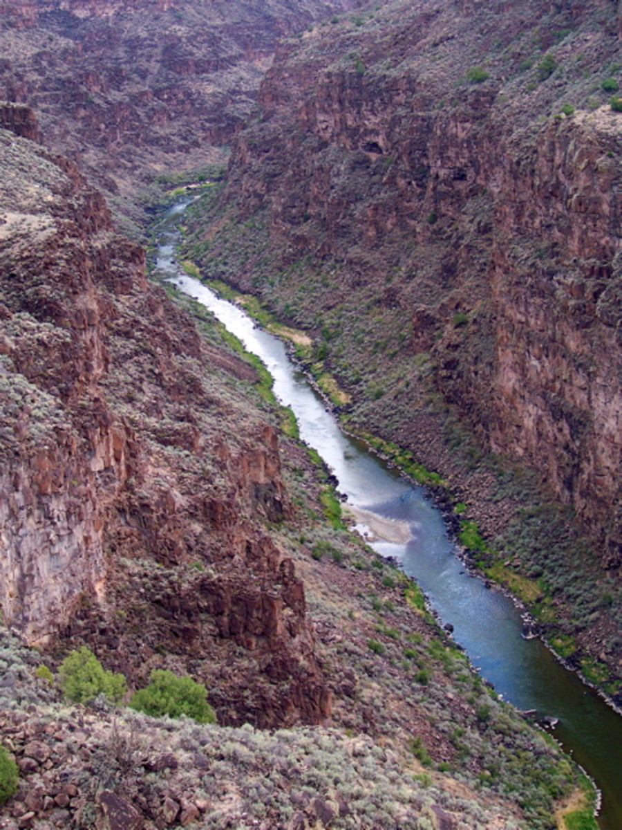 Rio Grande Canyon in New Mexico - a gorgeous river still plagued by water rights lawsuits.