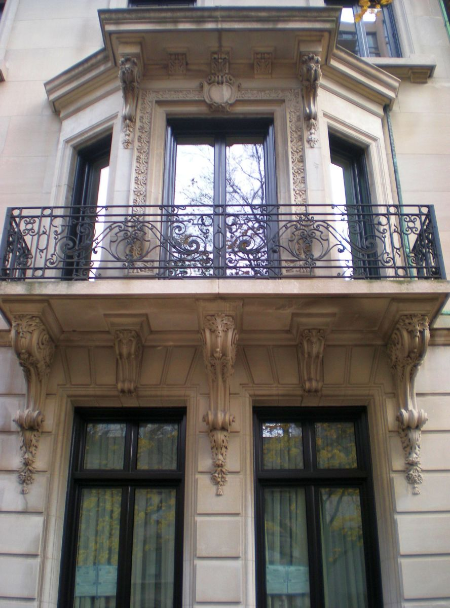 Detail view of balcony at 1521 N. State.