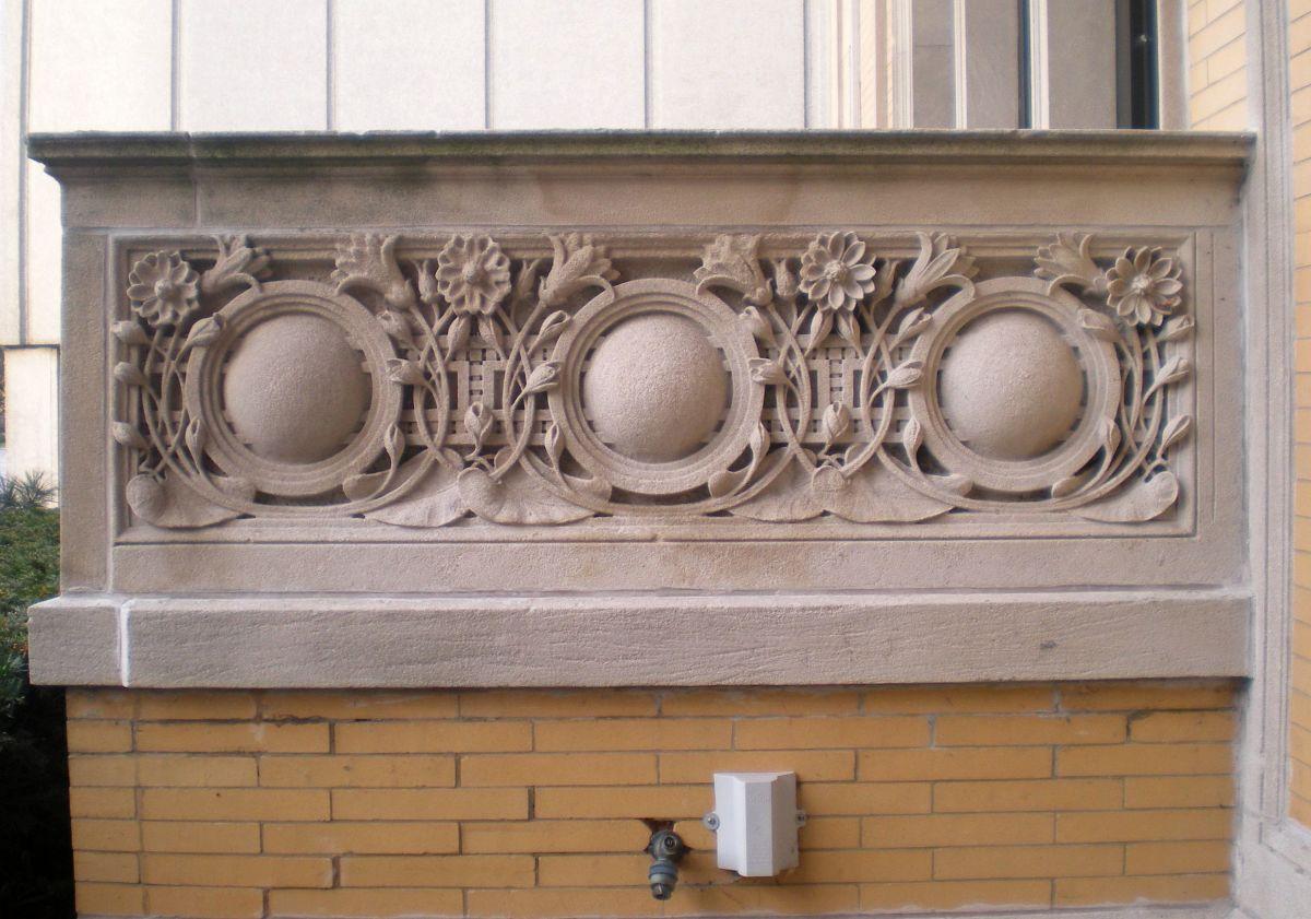 Balcony detail at 6331 N. Sheridan Road.