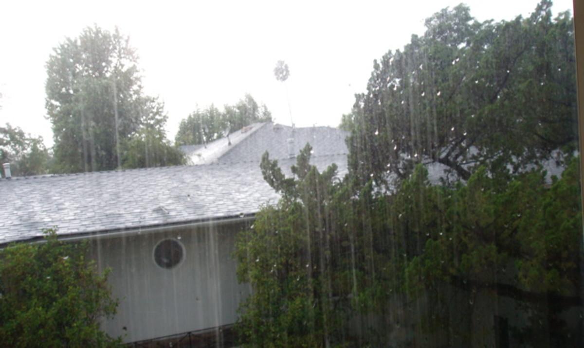 Recent rainstorm in Pasadena, CA.