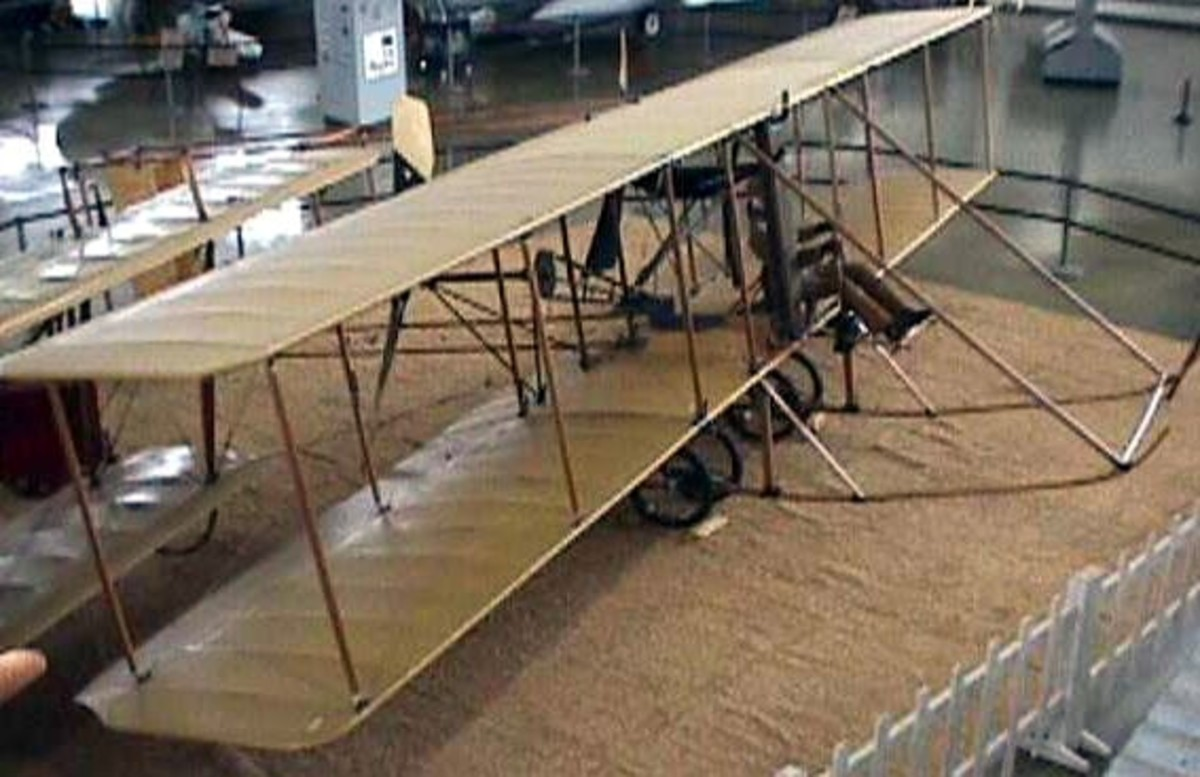 WW1: Burgess Model F replica preserved at Hill Aerospace Museum. The Burgess was a license-built variant of the Wright Brothers' Model B (1910).