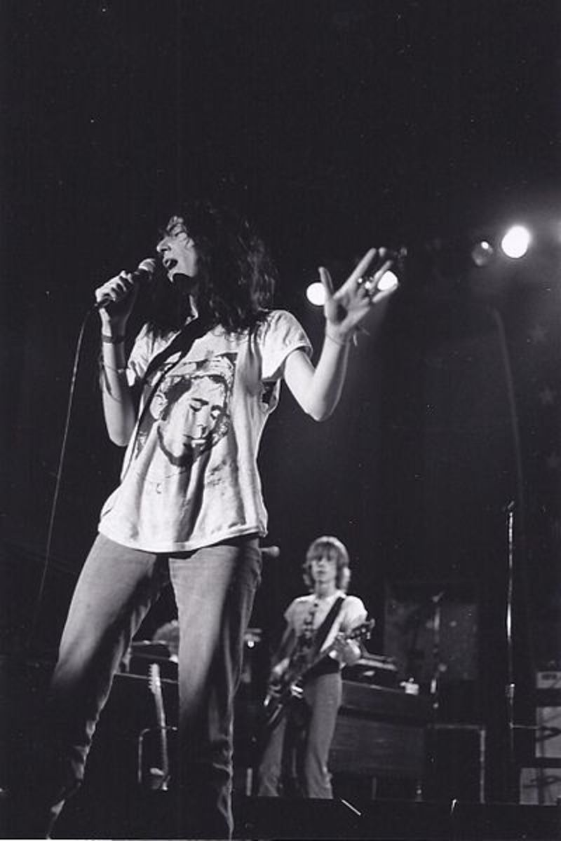 Patti Smith performing at Cornell University in 1977.