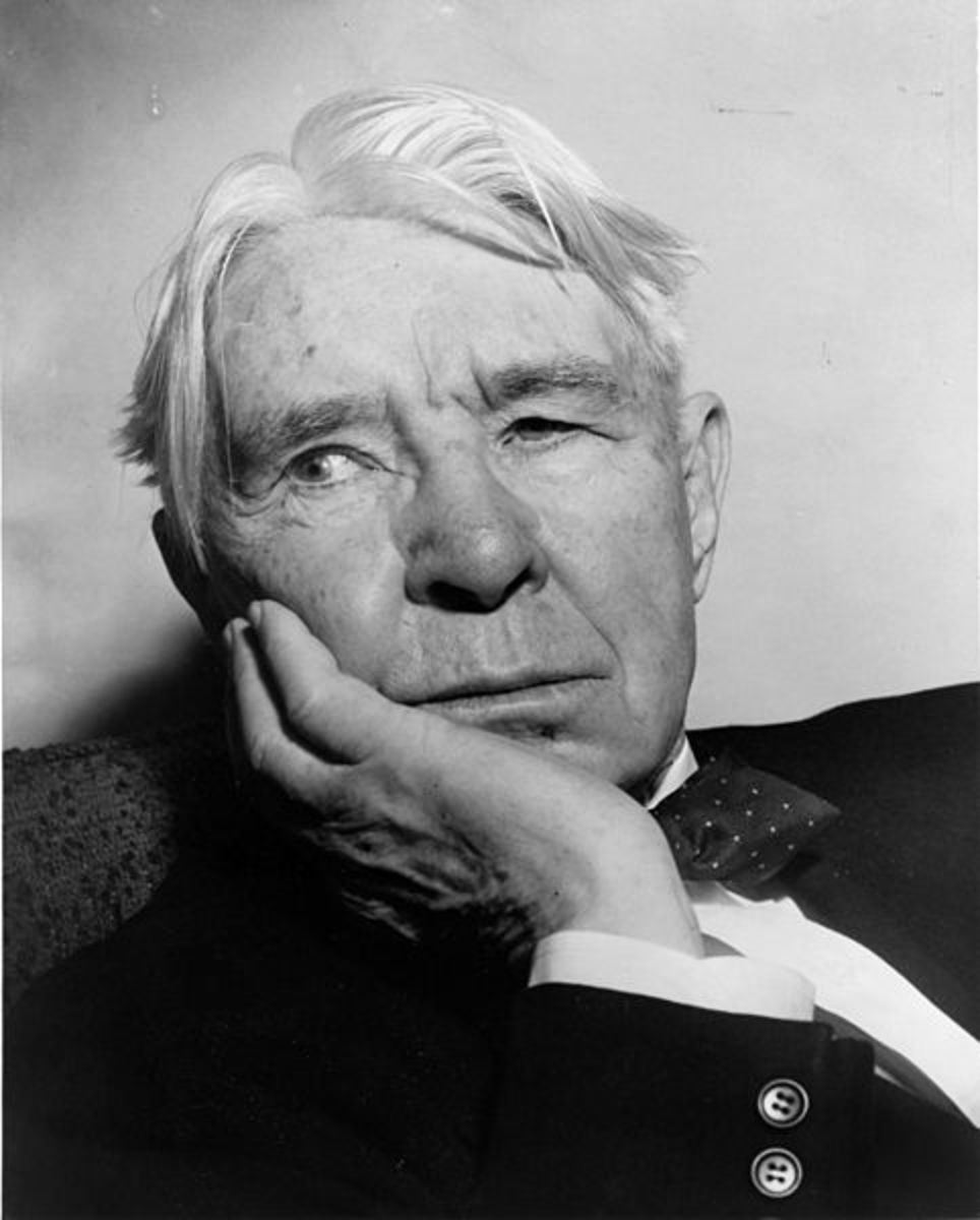 Carl Sandburg at age 77, photo by Al Ravenna, World Telegram staff photographer