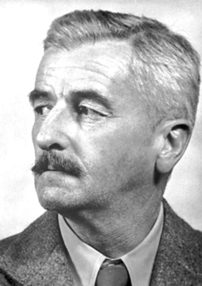 William Faulkner during the year he received the Nobel Prize.