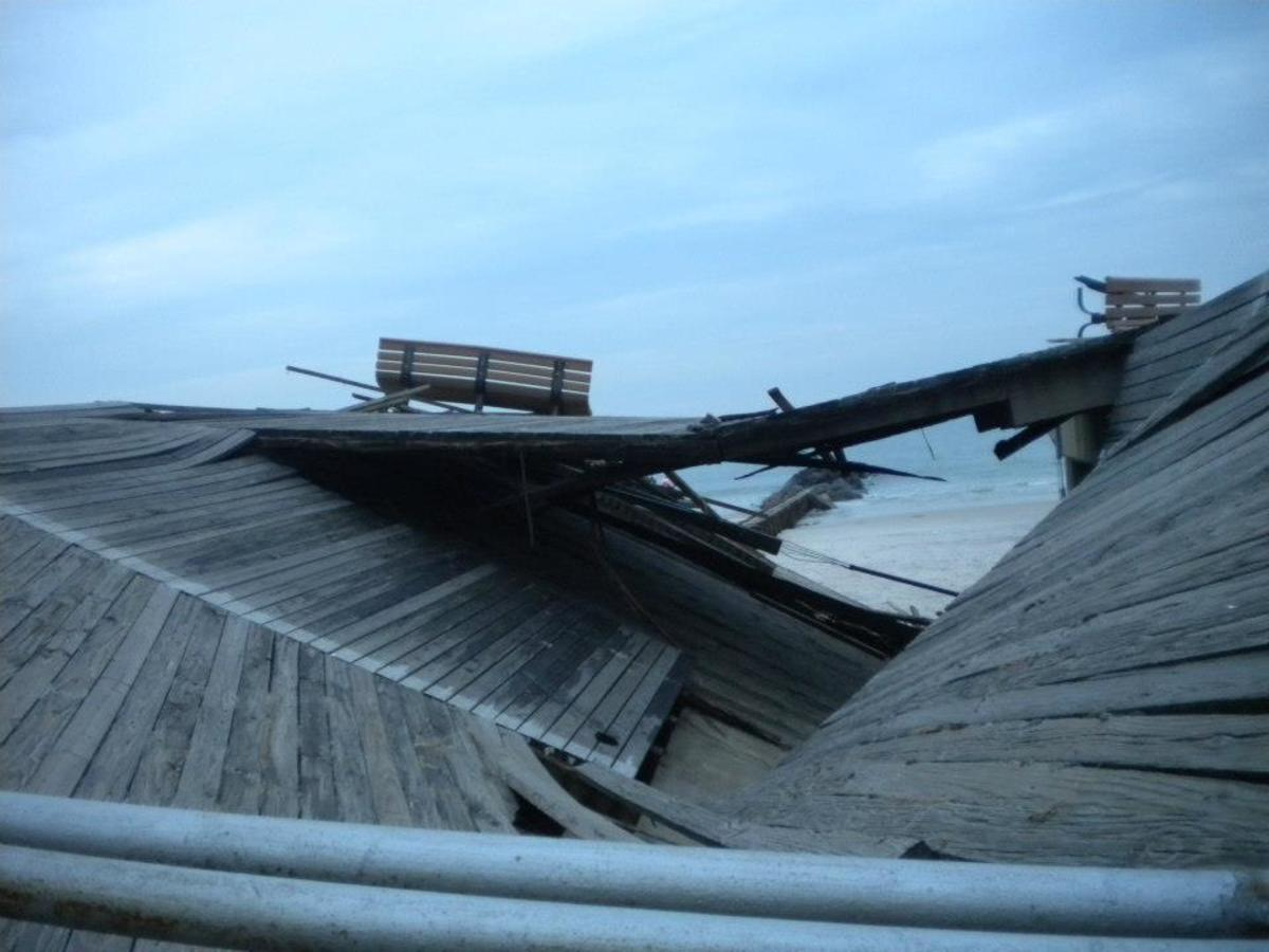 The Boardwalk at Long Beach, New York after Super Storm Sandy