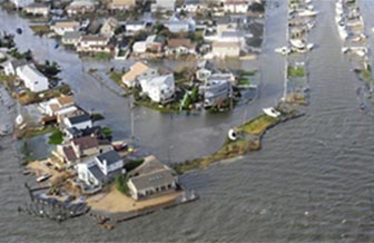 First daylight look at Long Island flooding from Super Storm Sandy. Photo taken October 30, 2012,