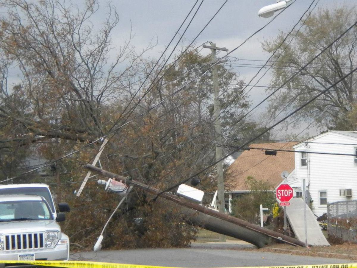 It took two weeks for power to be restored to our town.