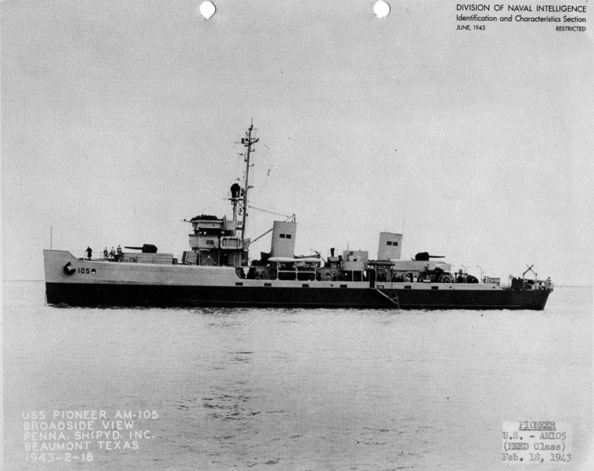 WW2: The minesweeper USS Pioneer saved over 600 lives. 1943.