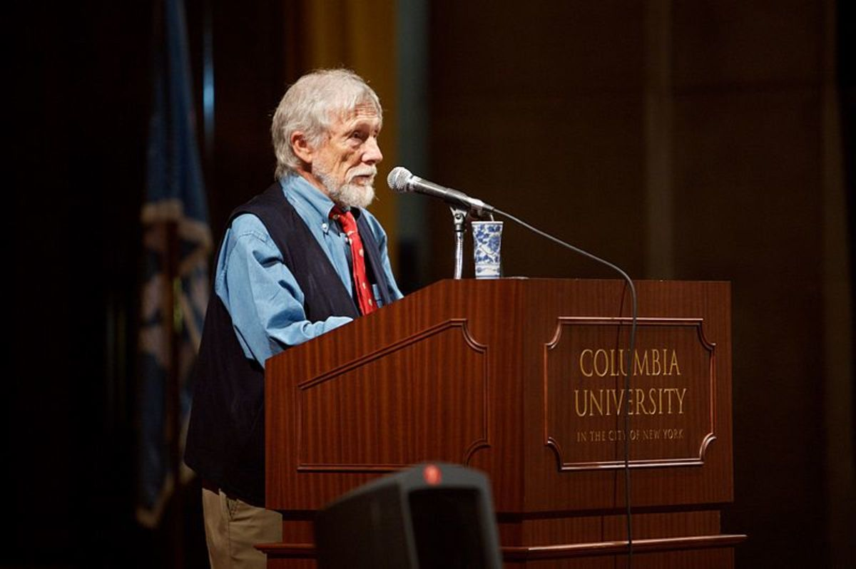 Gary Snyder speaking at Columbia University in 2007 at age 77