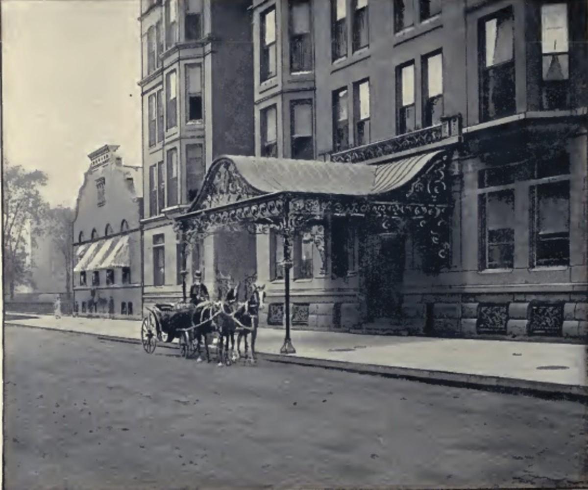 Main entrance of Virginia Hotel on Ohio Street.