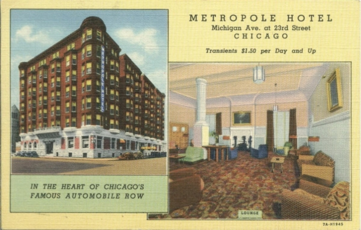 Postcard of the Metropole Hotel, circa 1940.