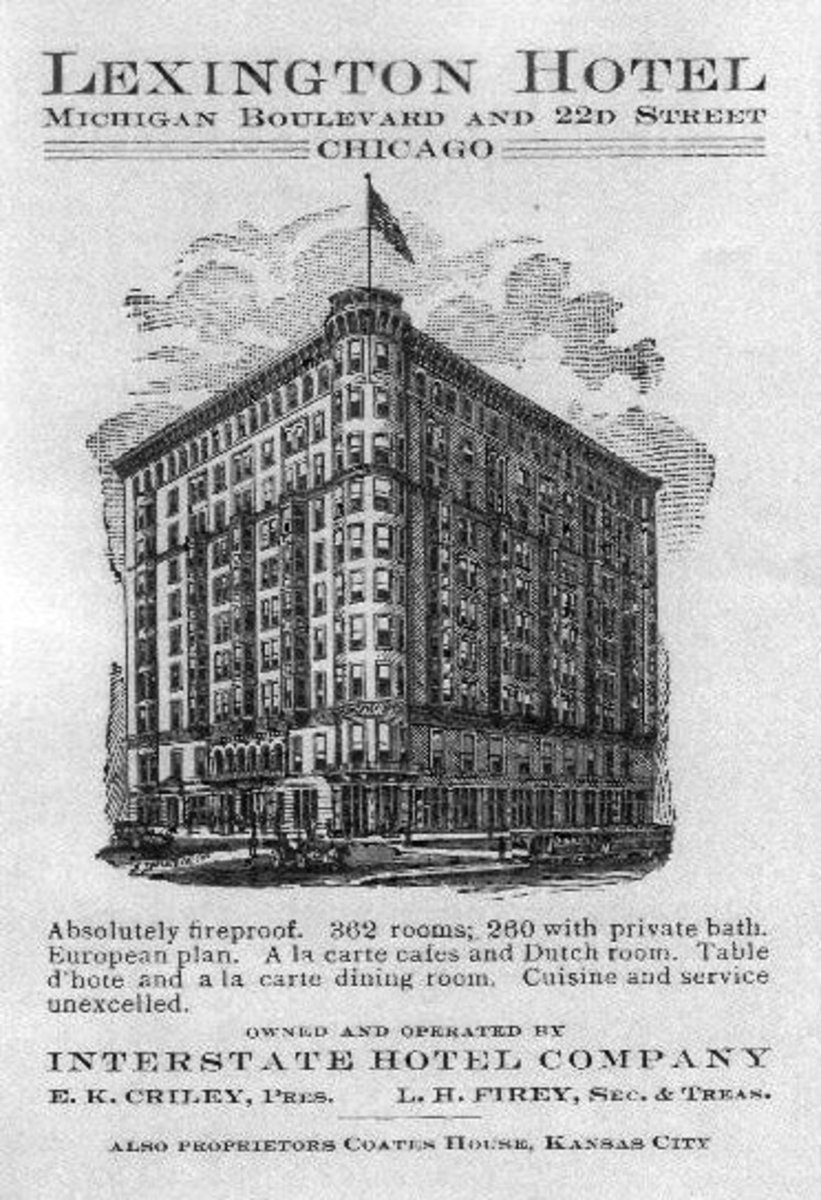 Early advertisement for Lexington Hotel.