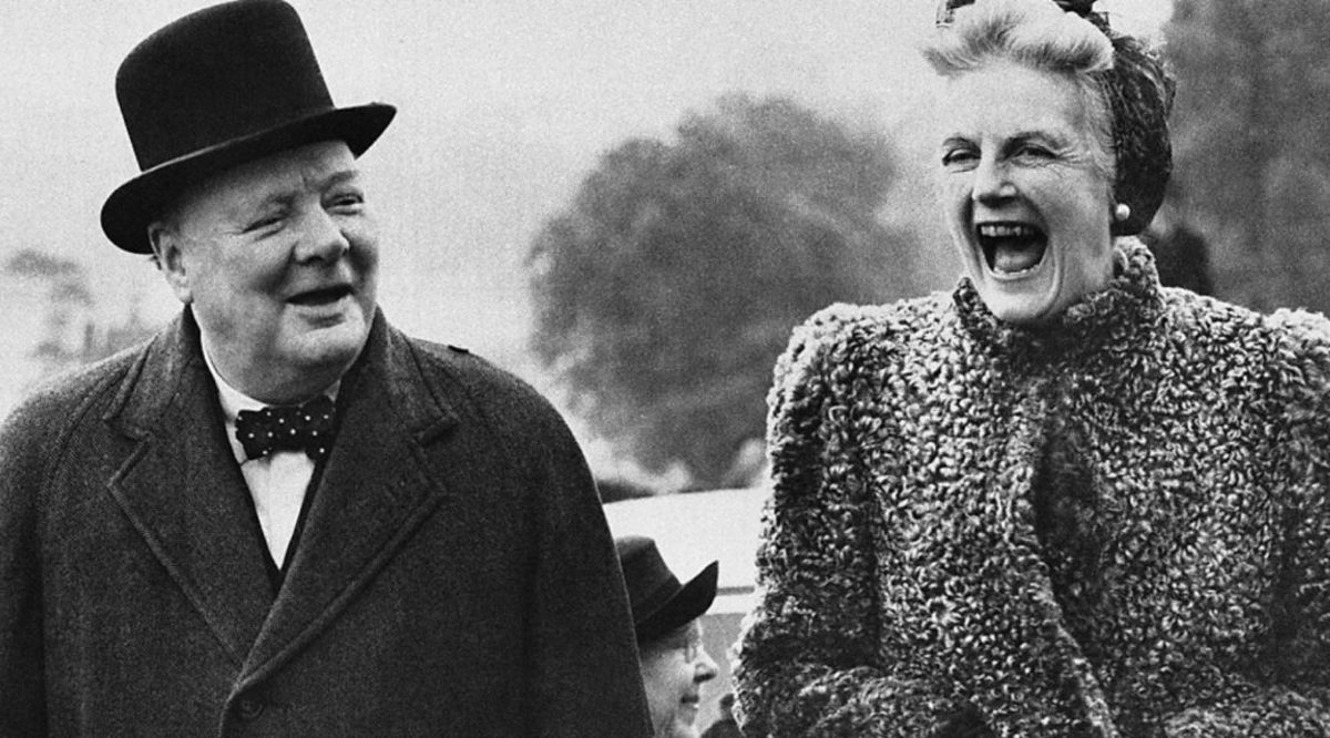 Winston and Clementine Churchill, 1945
