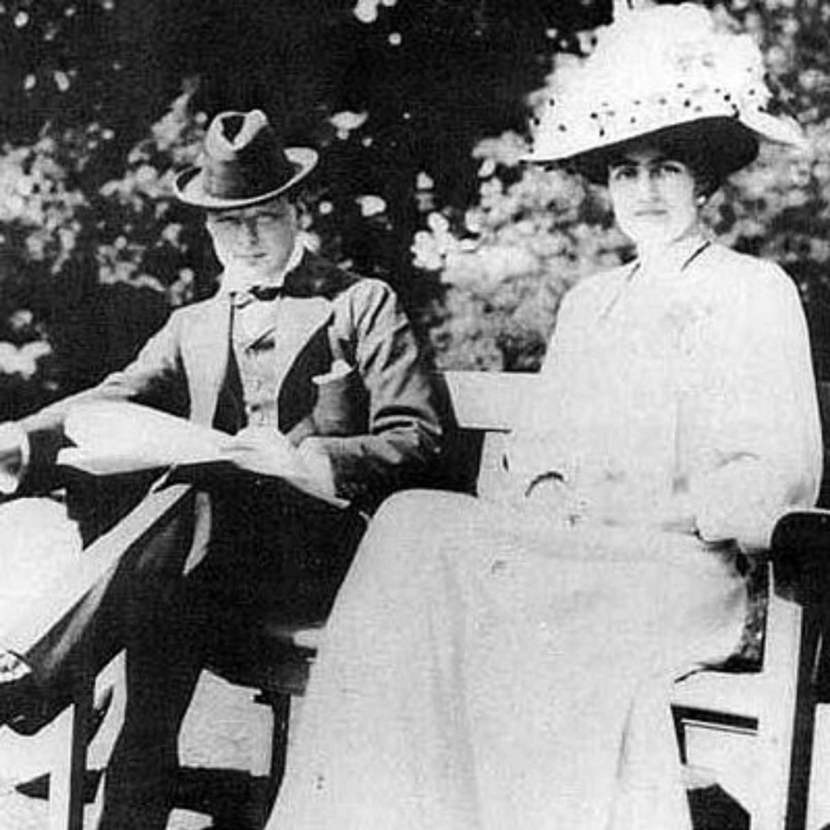 Winston and Clementine Shortly Before Their 1908 Marriage