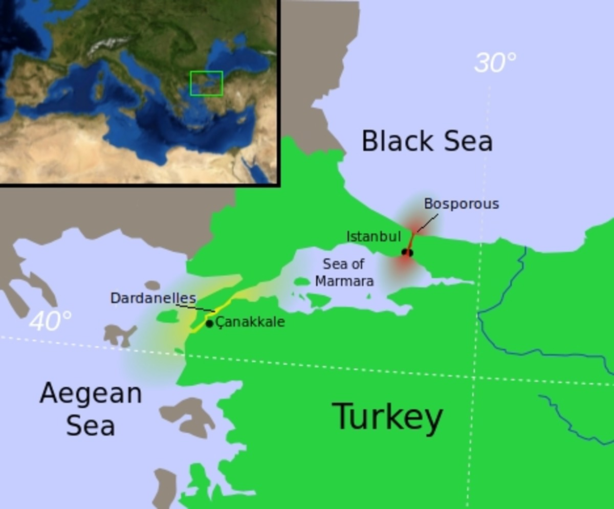 World War One: Access to the Russian Empire via the Dardanelles and the Bosphorous.