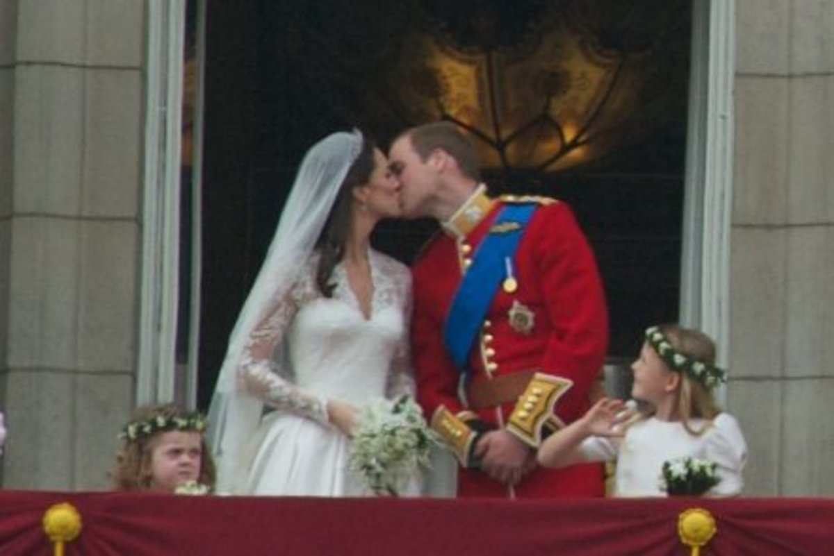 Royal wedding: William and Kate on their big day. Fortunately, they're no biologically closer than 11th cousins.