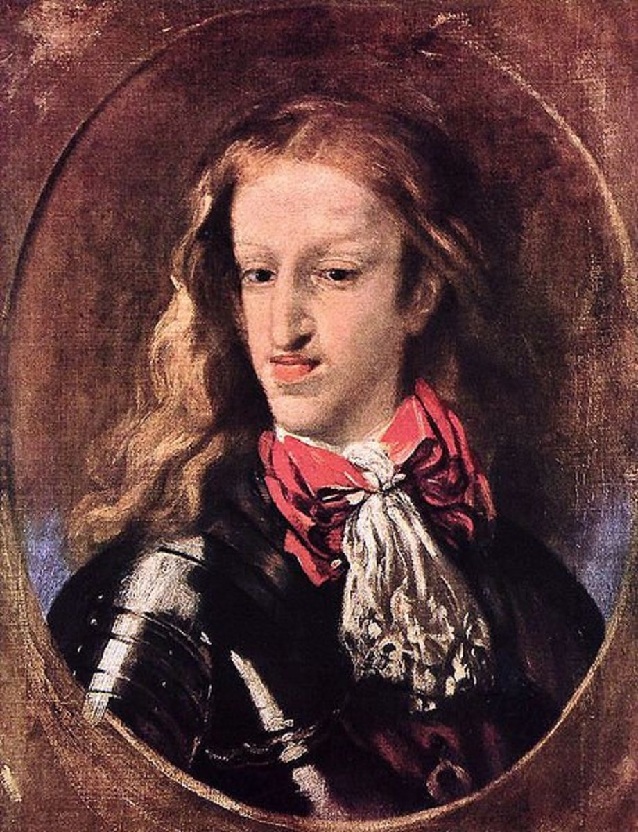 Charles II of Spain in his twenties. You can clearly see the Habsburg Jaw, and this portrait was likely being kind.