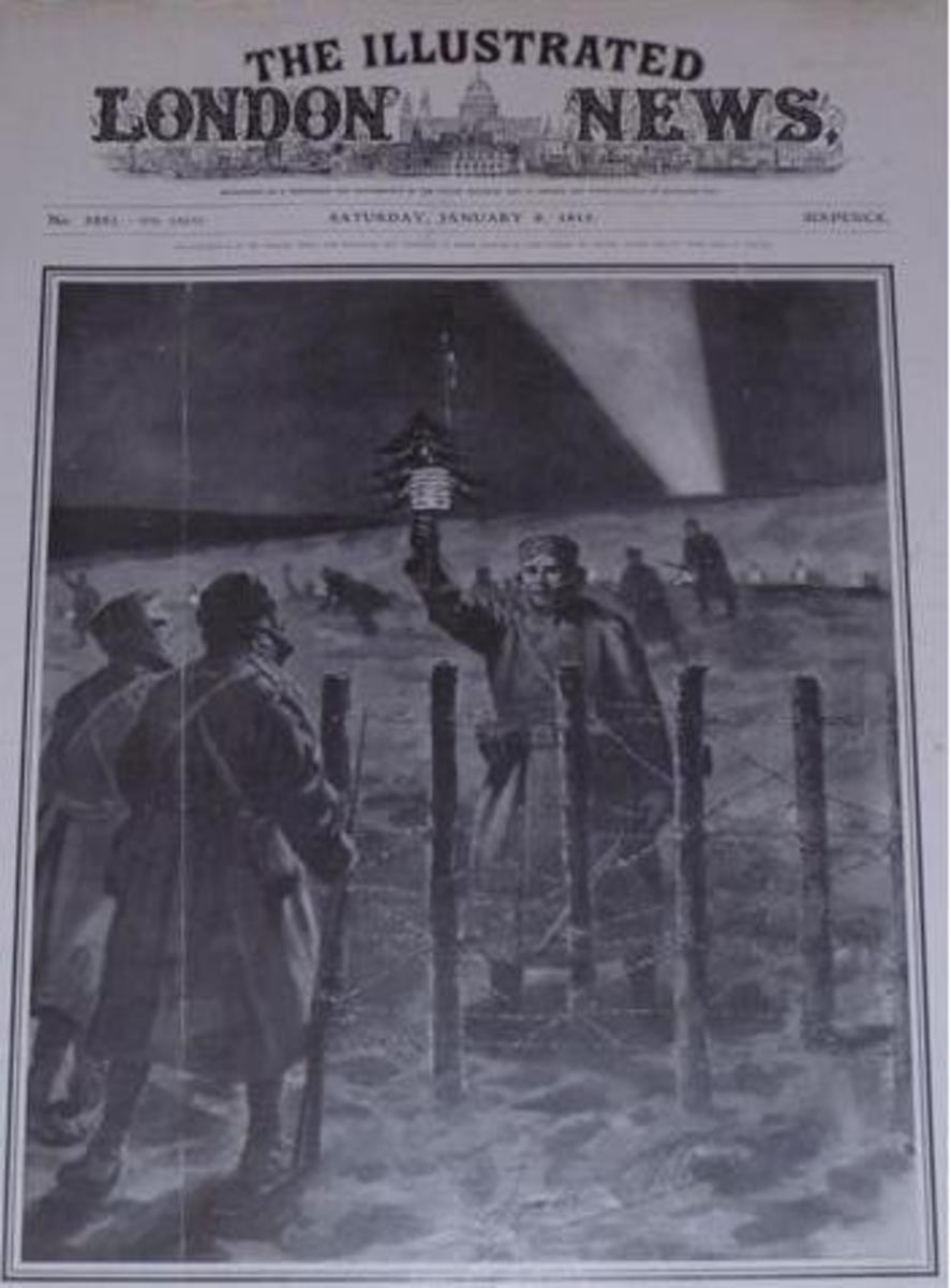 The Illustrated London News January 9, 1915 - world war 1 christmas truce