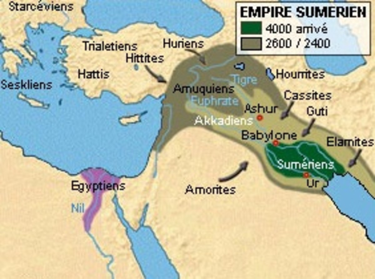 Ancient Sumer. Any historical flood was probably confined to this region.