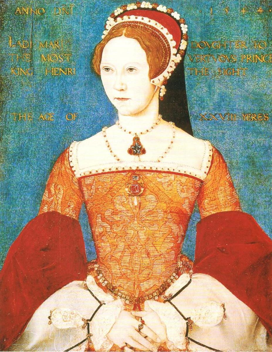 Portrait of Mary I of England. National Portrait Gallery. Mary I became queen after the death of her brother Edward VI and reigned from 1553 to 1558.