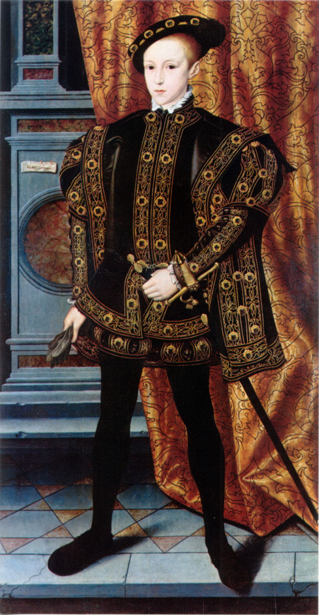 Edward VI of England. Edward VI was the son of Henry VIII and ruled from 1547 to 1553.