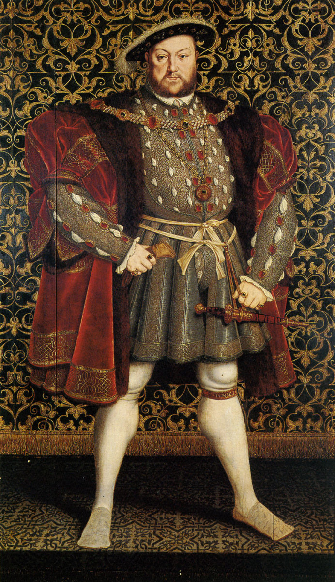 Henry VIII. Chatsworth House. Henry VIII was the son and successor of Henry VII. He ruled from 1509 to 1547.