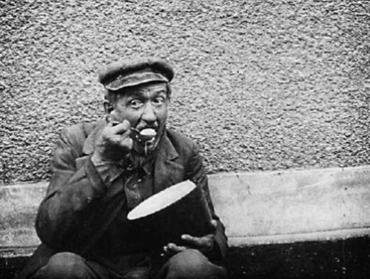 Poverty stricken man. Paris 1930.