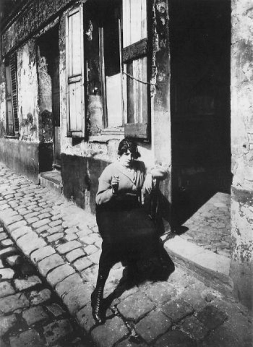 A prostitute on the cobbled Paris streets at about the time of Orwell's Down and Out experiences.