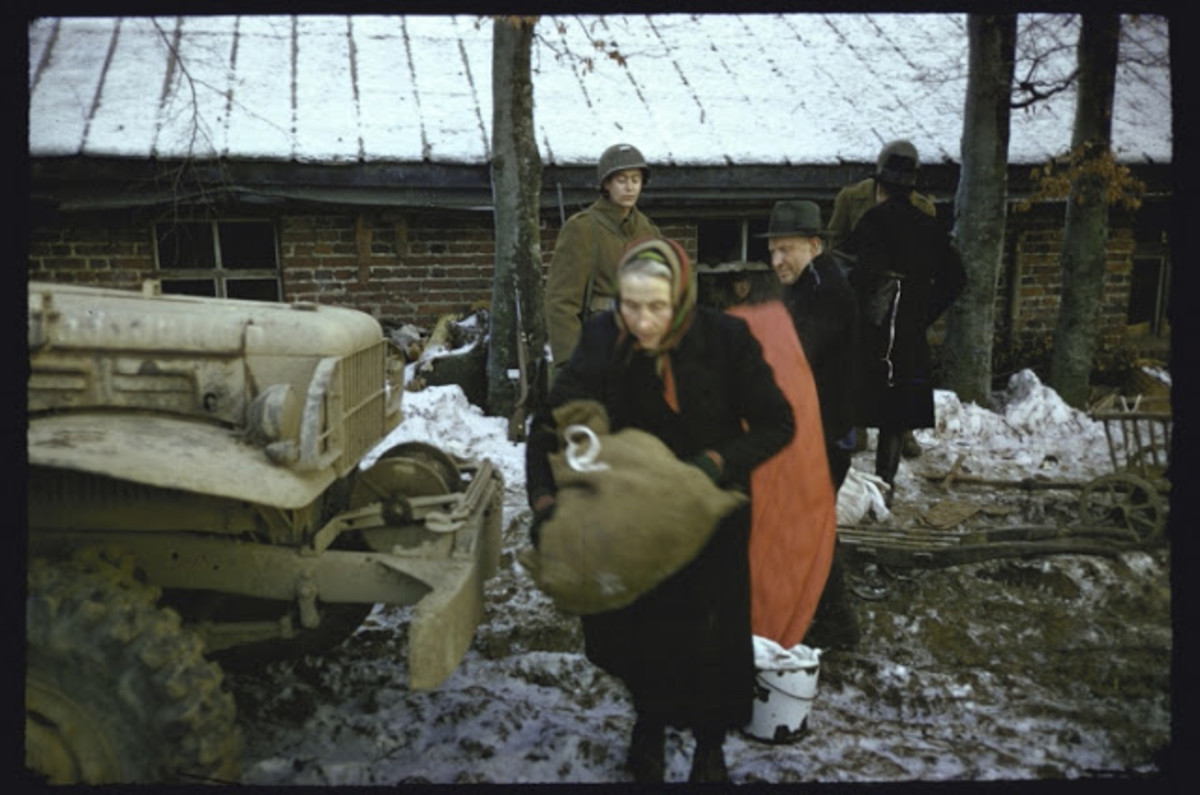 Belgians fleeing the fighting.