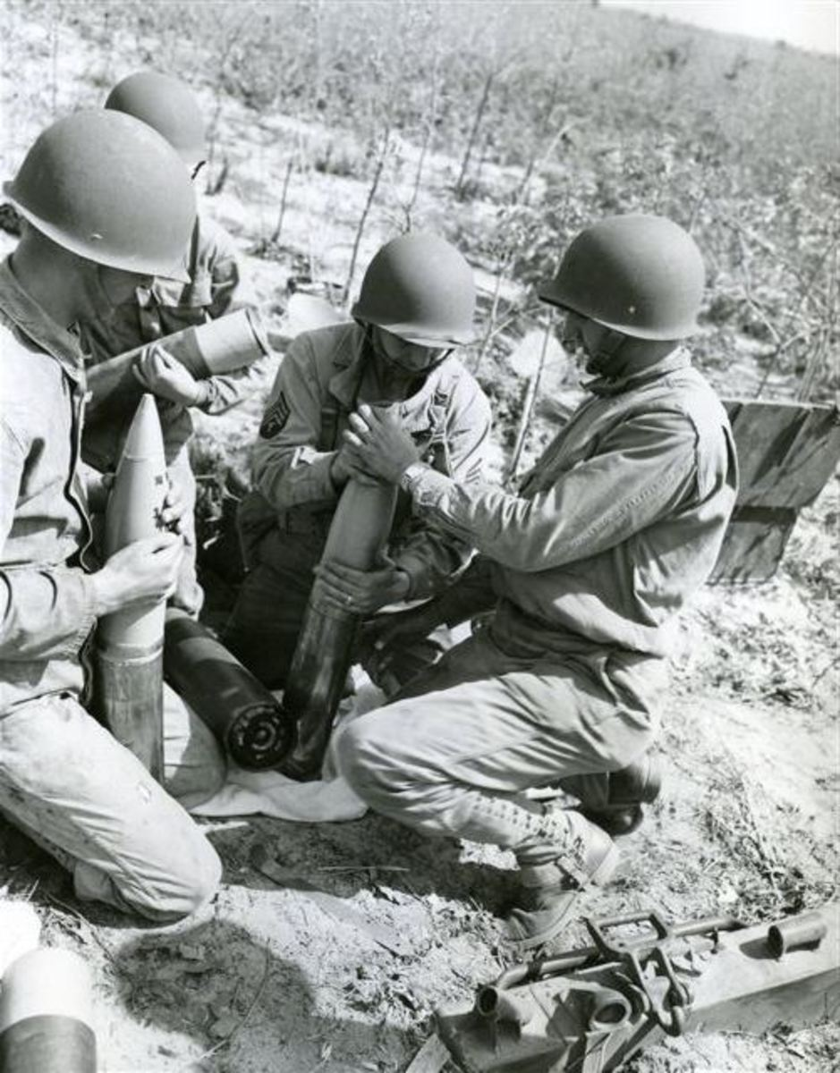 Training at Fort Jackson, South Carolina, 1943