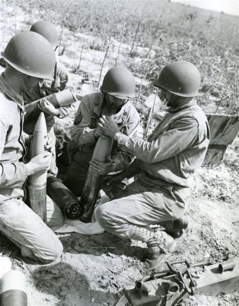 Training at Fort Jackson, South Carolina, 1943